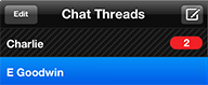 Image: MovieSlate Chat Screen example: chat threads