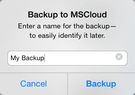 Image: MovieSlate Cloud Backup - Backup Confirmed