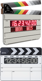 Image: Denecke TS-TCB Slate and BETSO WTCS-1 wireless timecode slates