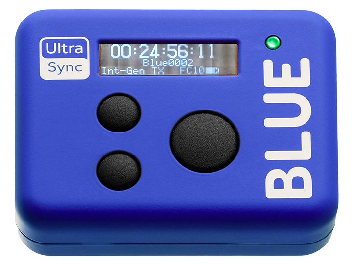 Image: Front view of the Timecode Systems UltraSync Blue