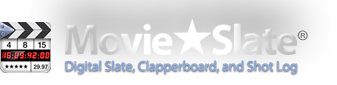 MovieSlate: Digital Slate, Clapperboard, and Shot Log