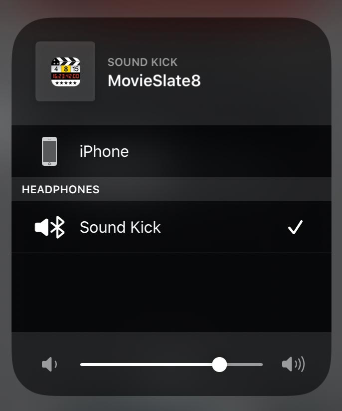 Image: MovieSlate Music Video Mode AirPlay Output selection