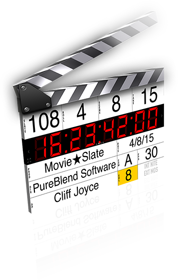 Image: MovieSlate clapperboard and slate image