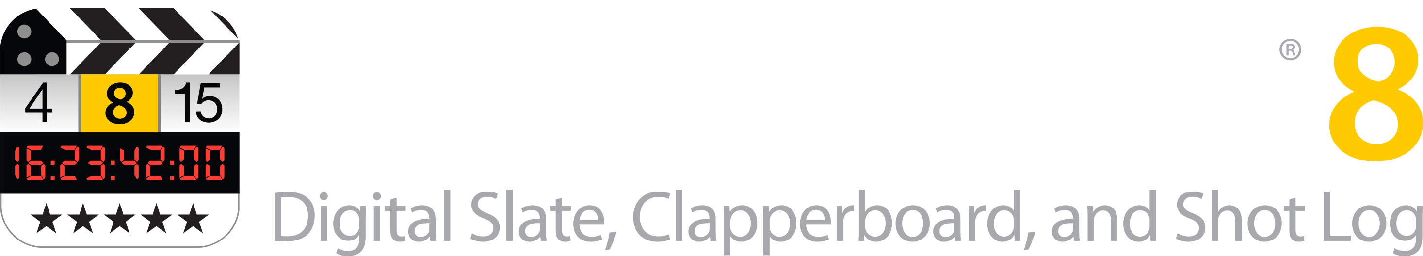 Image: MovieSlate 8 Logo on black