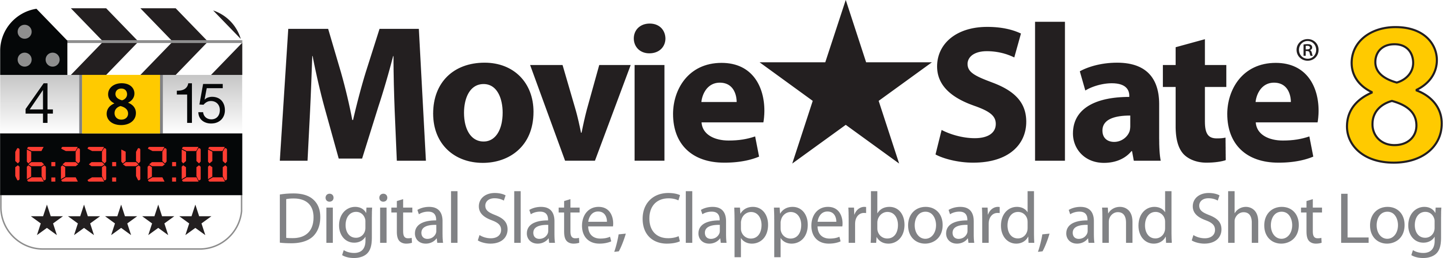 Image: MovieSlate 8 Logo on white