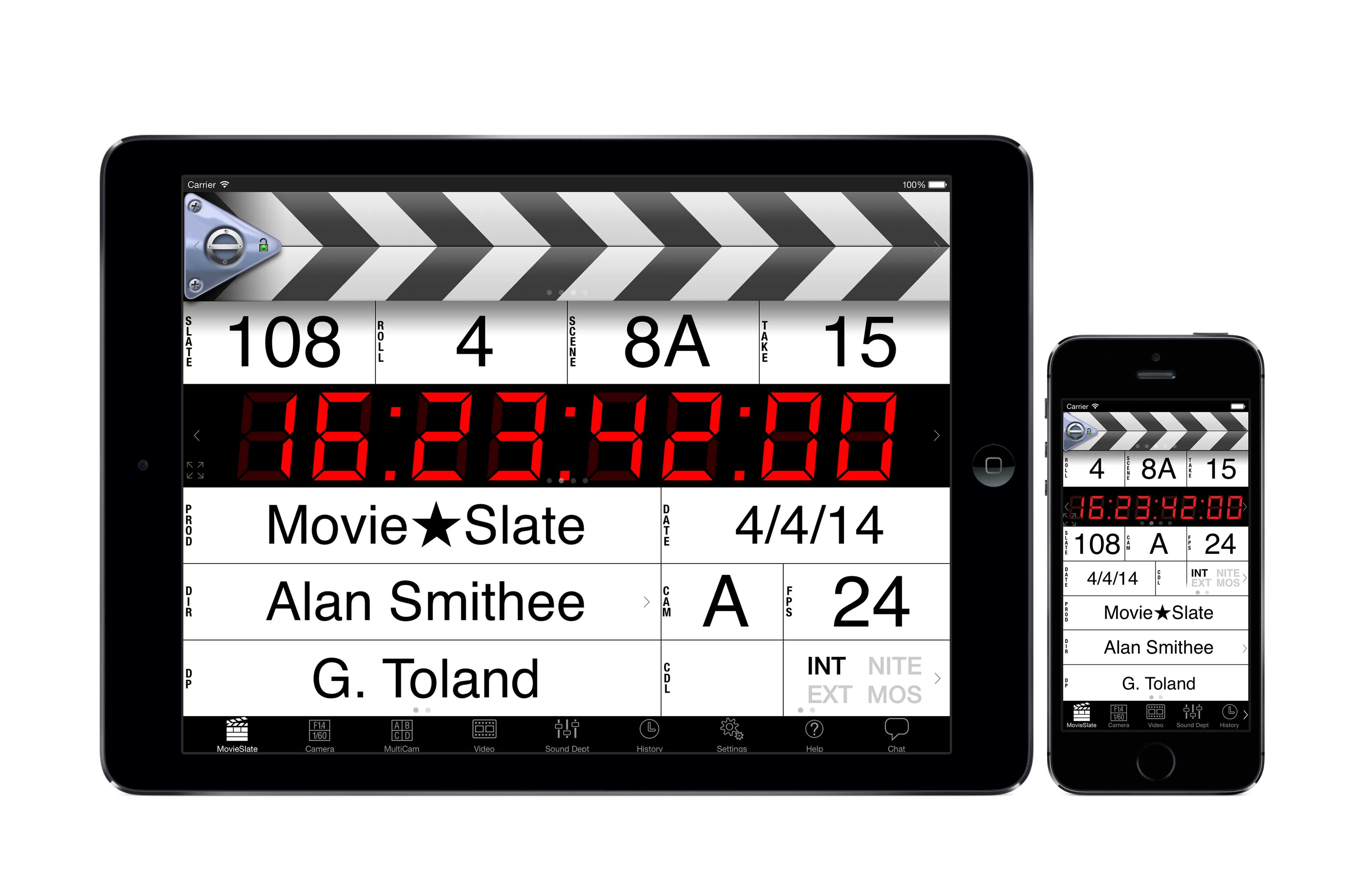 Promotional Image: MovieSlate on iPad and iPhone